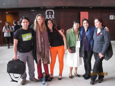 Con Vanessa, Carolina, Gaby Jarpa.